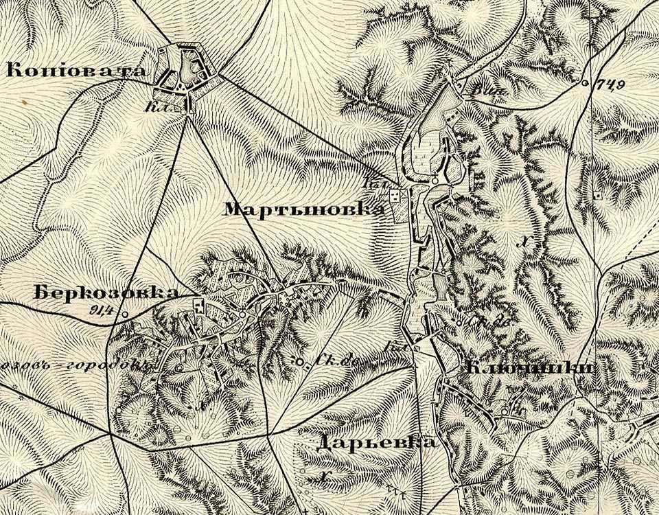 Мартинівка на тьоехверстовій мапі Шуберта